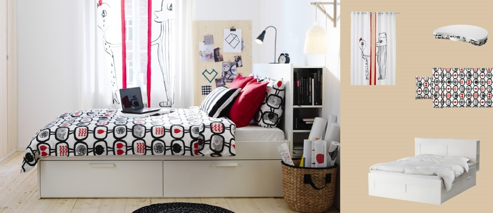 BRIMNES bed frame with storage-IKEA-UAE