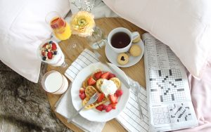 Yes. A delicious 'breakfast in bed' can make your loved one's day.